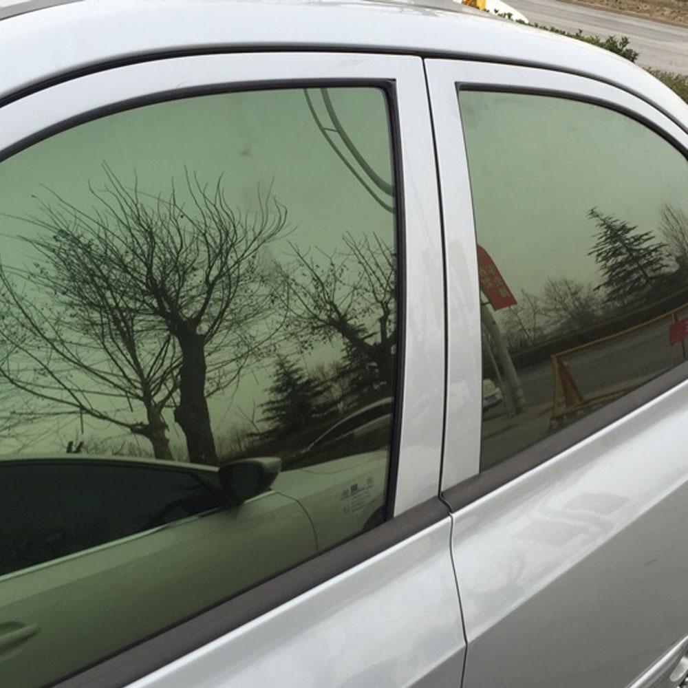 """120 """"X20"""" šviesą atspindinčios žalios izoliacijos langų plėvelių lipdukai Šoninio stiklo saulės plėvelė Apsauginė plėvelė automobiliui"""