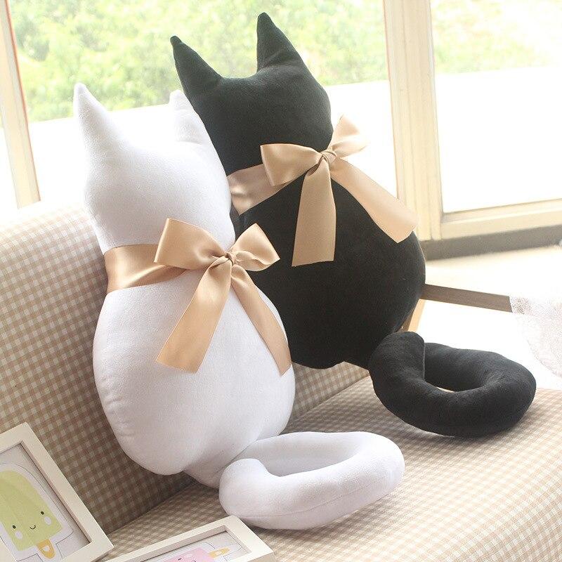 Moda de Pelúcia Animal Macio Recheado de Volta Sombra Branca Gato Almofada  Do Assento Do Sofá Almofada Pillow Bonito Dos Desenhos Animados Brinquedos  Para ... 4ba101dd250