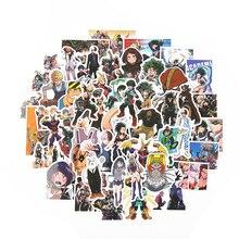 TD ZW 50 unids/lote, pegatinas de My Hero Academia, pegatina clásica de Anime japonés, pegatina moderna de computadora portátil, Popular, para equipaje, coche, monopatín, teléfono
