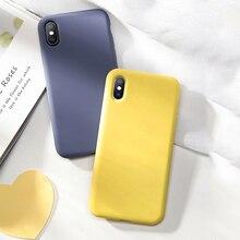 מקורי נוזל מקרה עבור iPhone XS יוקרה סיליקון כיסוי עבור iPhone 7 8 בתוספת 6 6 S בתוספת XR XS מקסימום צבעים בוהקים Fundas Coques Capas