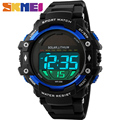 SKMEI 1129 Solar Power Men Watch LED Digital Watch Multifunction Waterproof Outdoor Sports Chrono Back Light Military Wristwatch