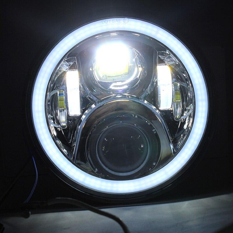 FADUIES Chrome 7 дюйм 65W дөңгелек жарықдиодты - Мотоцикл аксессуарлары мен бөлшектер - фото 5