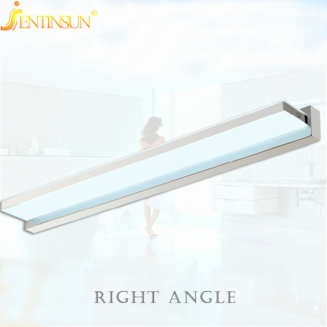 Modern 100cm 15W Right angle style LED Acrylic Wall Lamp Bathroom Mirror Light , Stainless Wall Sconce light,Factory Wholesale