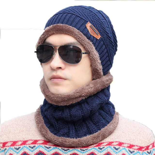 450be88fc24 2016 Brand Beanies Knit Men s Winter Hat Caps Skullies Bonnet Winter Hats  For Men Women Beanie