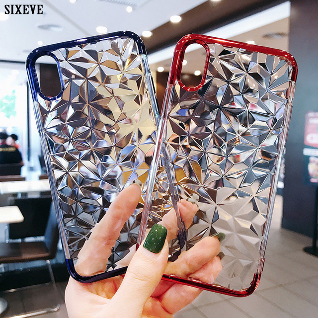 4ed0481fcec SIXEVE Luxury Soft Clear Case For iPhone X XR XS Max 8 7 6 S 6S Plus 7Plus  8Plus 6Plus 6SPlus Silicone TPU Cell Phone Back Cover