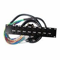 Высокое качество pro аудио 16 каналов 10 м 2U стойки многожильных кабелей с 6.35 и XLR male Многофункциональный разъем
