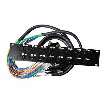 Cables multifuncionales de alta calidad Pro Audio 16 canales 10M 2U rack multifunción con enchufe macho 6,35 y XLR