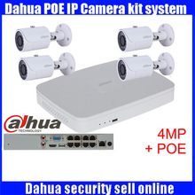 Dahua 4pcs 4MP POE IP Camera DH-IPC-HFW4421S System Security Camera Outdoor 8CH 1080P DH-NVR4108-8P Kit H.264 Video Recorder