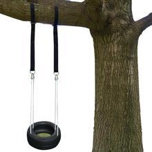 2 веревки замок галстук держатель крюк качели прочность полиэстер лямки привязанные безопасные веревки для наружной качели гамак нагрузка 300 кг