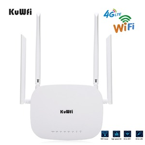 Image 2 - KuWfi 4G CPE Router 3G/4G LTE Wifi Router 300Mbps Wireless CPE Router With 4pcs External Antennas Support 4G to LAN Device