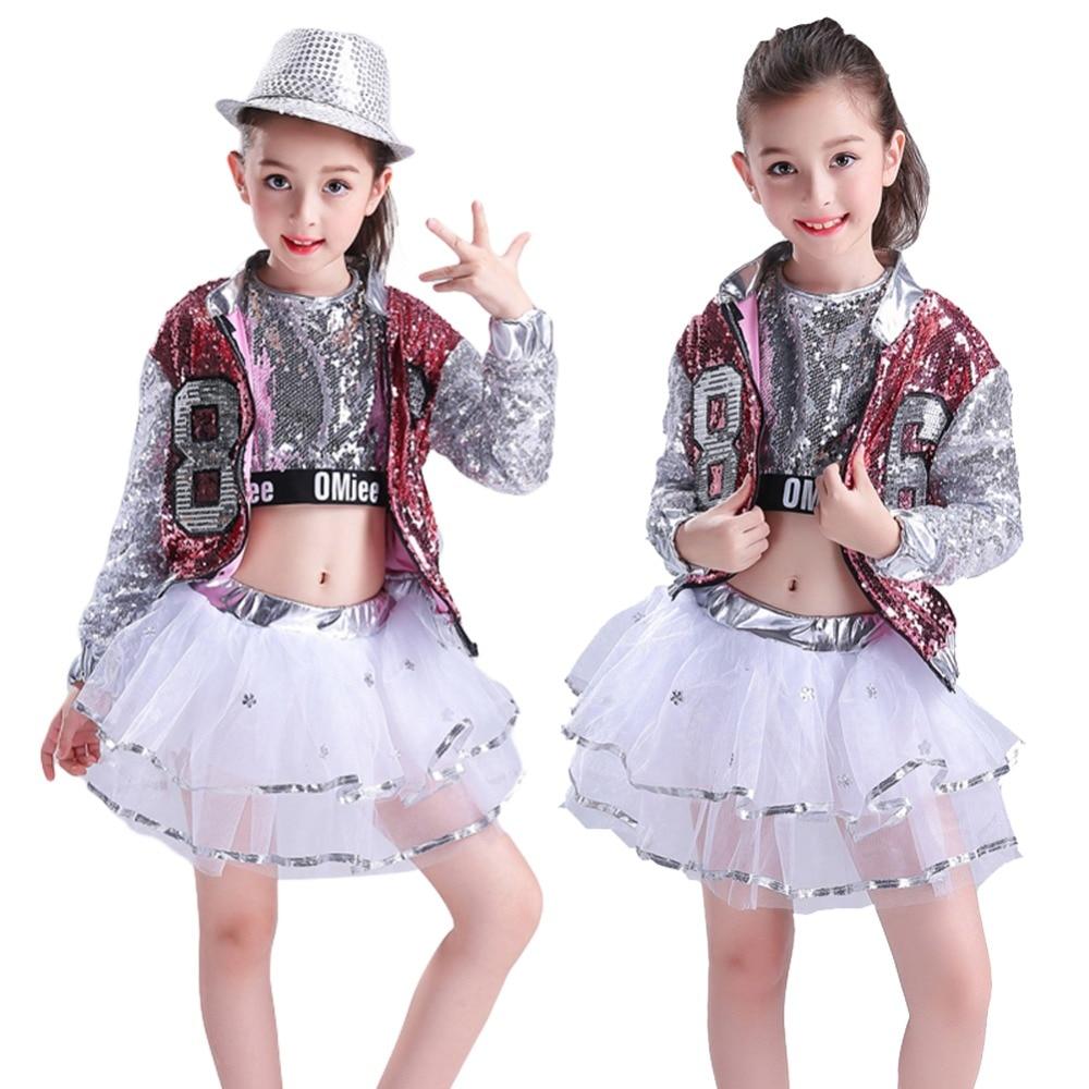 3PCs Girls Sequins Hip Hop Dance wear Jazz Glittery Outfits / Beauty Pageant Clothing Sets3PCs Girls Sequins Hip Hop Dance wear Jazz Glittery Outfits / Beauty Pageant Clothing Sets