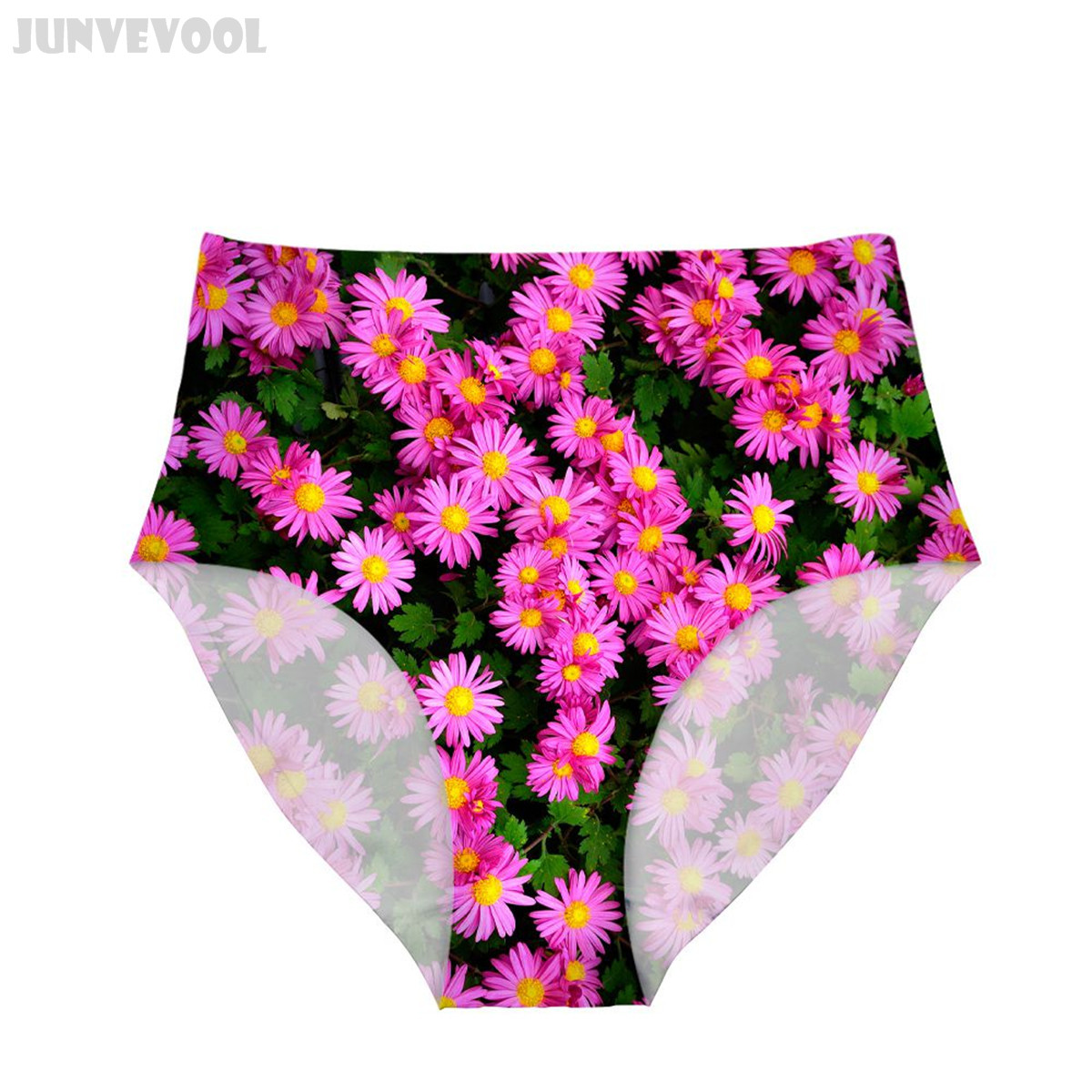 fd0fb81f92 Lingerie High Waist Panties Flower New Women Underwear High Cut Floral  Print Panties Shapewear Brief Body Shaper 3D Plants Pants-in women s panties  from ...