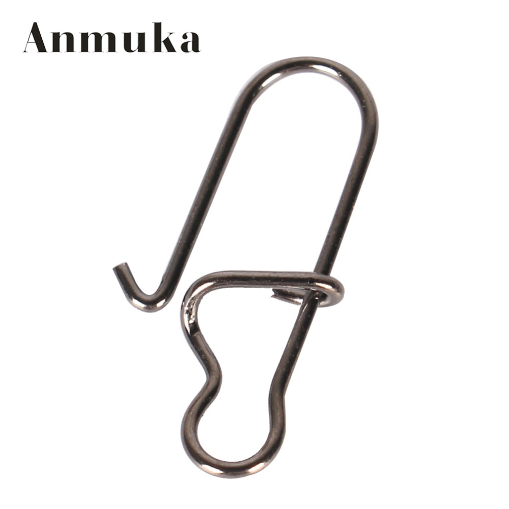 anmuka 50pcs stainless steel pin swivel fishing