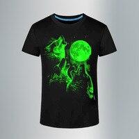 T Shirt Men Leisure Fluorescent Personalized Short Sleeve Luminous Tee Shirt Summer Tops Men T Shirt