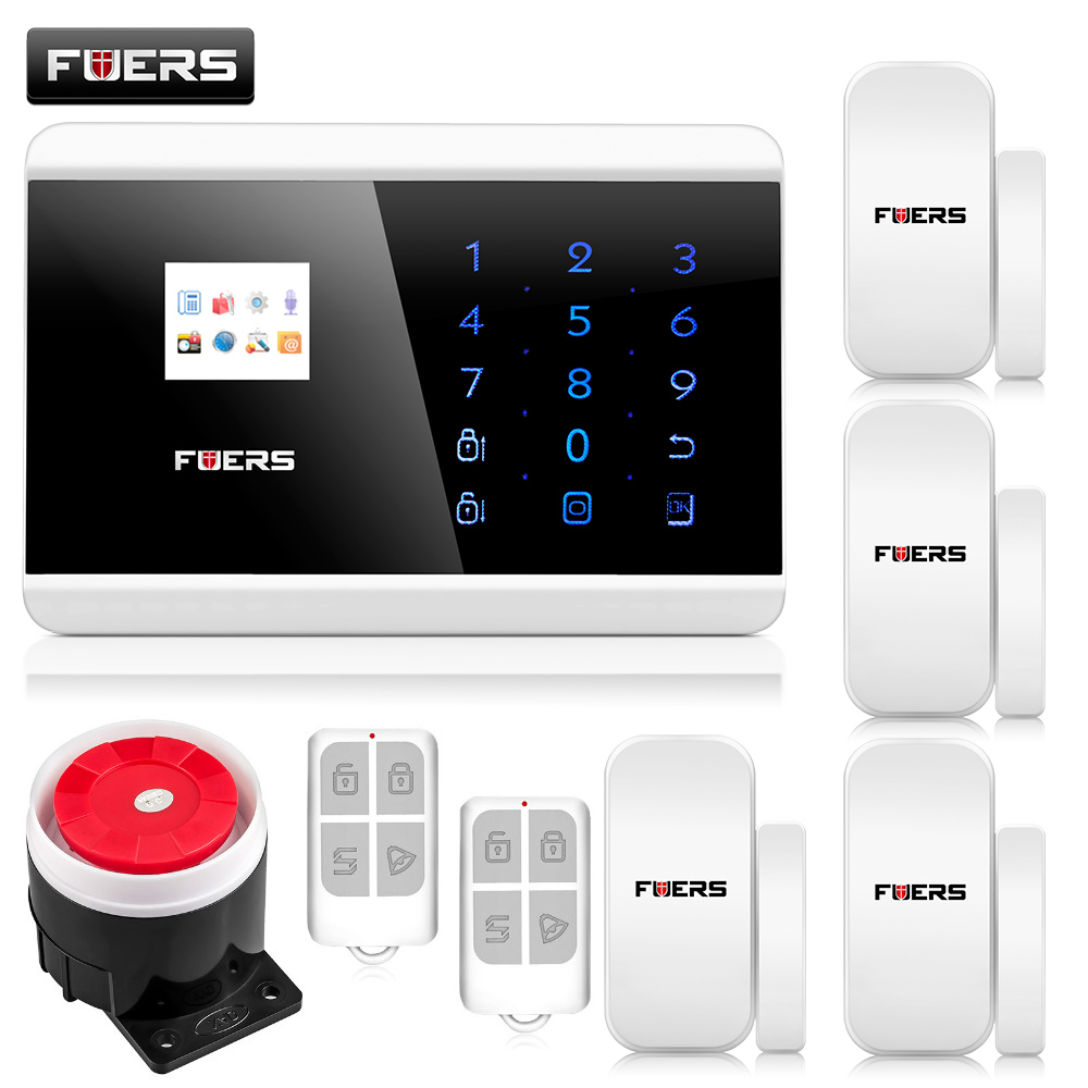 English/Russian/French/Spanish TFT Android IOS APP Touch keypad GSM Alarm System PSTN Dual Net Alarm Systems Security dual network russian spanish french wireless gsm pstn alarm system home security alarm systems with lcd keyboard without battery