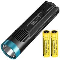 Оптовая продажа NITECORE 1000LMs излучатель фонарик факел лампы EC4GT синий Ограниченная серия удобный портативный Diver 2x NL1834 Бесплатная доставка