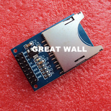 FREE SHIPPING 50PCS/LOT Reading and writing module for arduino SD Card Module Slot Socket Reader ARM MCU