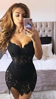 High Quality Black Sleeveless 2 Pieces Set Lace Celebrity Rayon Bandage Dress Cocktail Party Bodycon Dress