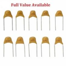 50 Pc Monolithische Multilayer Keramische Condensator 100 101 102 103 104 105 106 150 152 200 220 50V 5.08mm 1 Uf 10 Uf 15PF 1.5NF 20/22PF