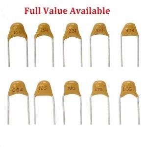 Image 1 - 50 Pc Monolitico Multistrato Condensatore Ceramico 100 101 102 103 104 105 106 150 152 200 220 50V 5.08mm 1 Uf 10 Uf 15PF 1.5NF 20/22PF