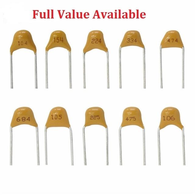 50 Pc Monolitico Multistrato Condensatore Ceramico 100 101 102 103 104 105 106 150 152 200 220 50V 5.08mm 1 Uf 10 Uf 15PF 1.5NF 20/22PF