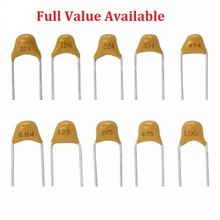 50PC Monolithic Multilayer ceramic capacitor 100 101 102 103 104 105 106 150 152 200 220 50V 5.08MM 1UF 10UF 15PF 1.5NF 20/22PF(China)