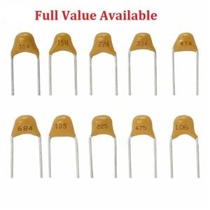 Image 1 - 50PC Monolithiques condensateur céramique Multicouche 100 101 102 103 104 105 106 150 152 200 220 50V 5.08MM 1UF 10UF 15PF 1.5NF 20/22PF