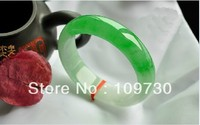 natural Myanmar infraglacial floating the perfect green jade bangle bracelet authentic wholesale dh0052 free shipping (A0426)