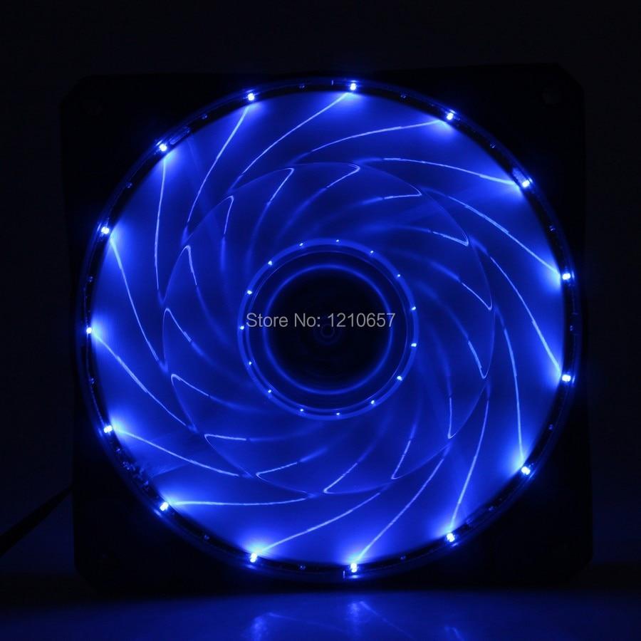 2PCS lot 3Pin 4Pin Cooling CPU Heatsink Fans 15 - LED Blue Light for Computer PC Case 120 x 25mm hpo 12w uv 395nm 400nm 7070 4 parallel connection 3 2 3 6v 1 2 2 8a led emitter light 2pcs lot