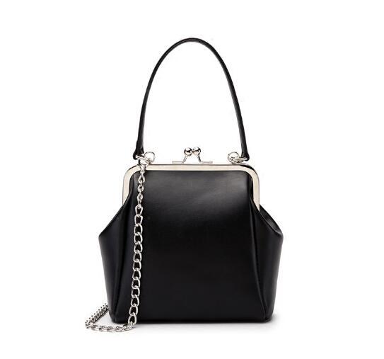 Moda mujer mini bolso clip vintage mujeres pequeño bolso lindo casual bandolera suan98r