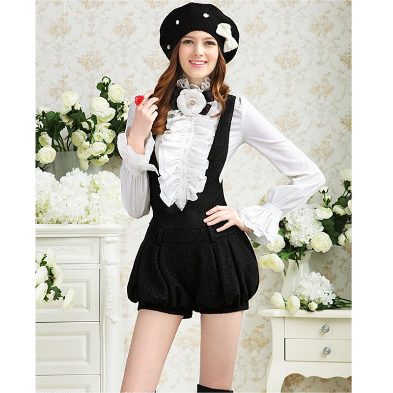 Detail Feedback Questions about Victorian Women Lady Long Sleeve Shirt Tops  High Neck Frilly Ruffle Shirt Blouse on Aliexpress.com  fd53dce75