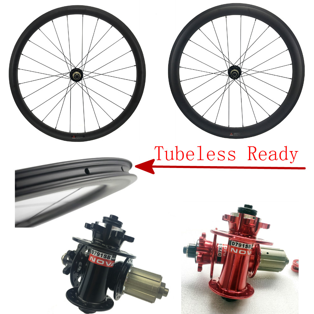Tubeless Carbon Bike Wheels Cyclocross Disc Brake Wheelset 25mm Wide 30/38/40/45/50/55/60/88mm Clincher Carbon Road Wheel 700C цена