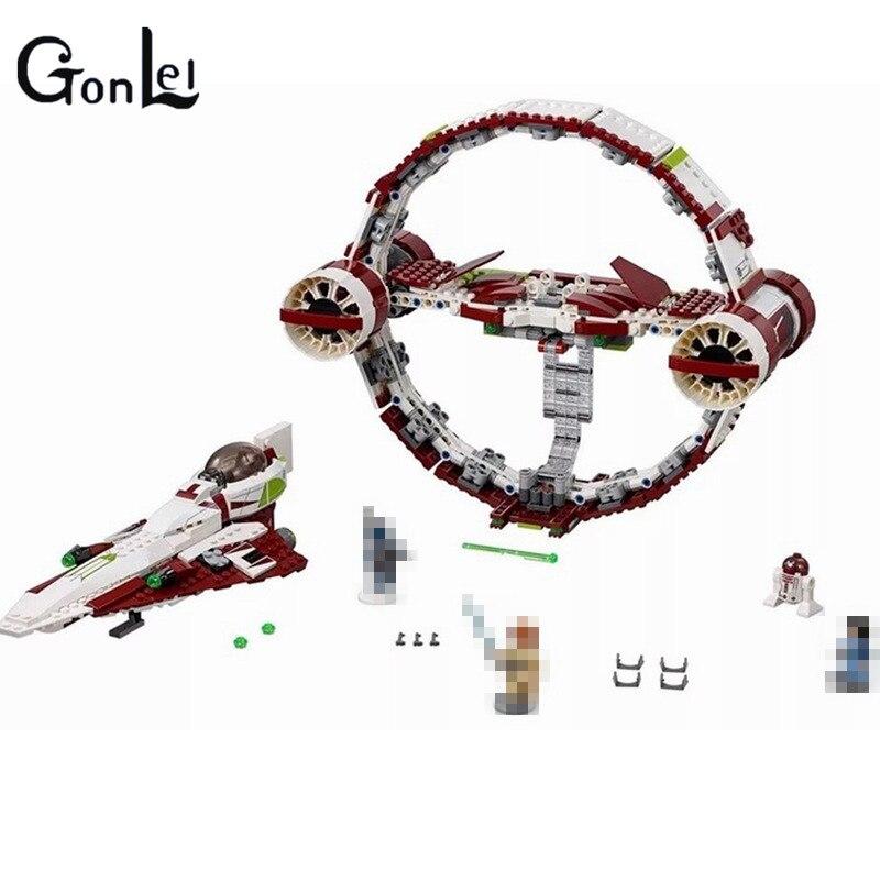75191 The Hyperdrive Jedi Starfighter 845 Pcs Mini Bricks Star Set Wars Building Blocks Toys For Children sw heir to the jedi