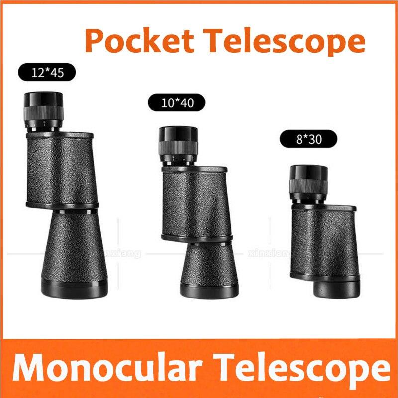 8X 10X 12X voyage en plein air cadeau Portable Camping télescope à tube unique adulte enfants poche observation des oiseaux télescope monoculaire
