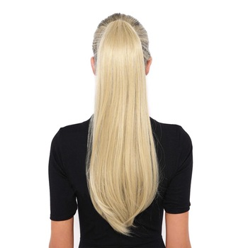 BHF Human Hair Ponytail Brazilian Remy Straight Ponytail Wrap Around Horsetail wig 60g 100g 120g Hairpieces Natural Tails 1
