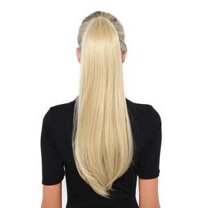 BHF Ponytail Hairpieces Wig Human-Hair Natural-Tails Brazilian Around 100g 120g Straight