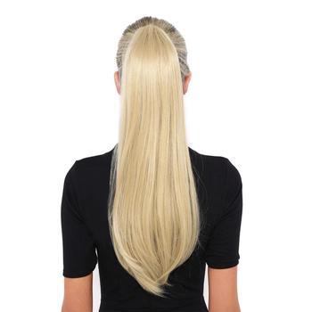BHF ludzki peruka z kucykiem brazylijski Remy prosto kucyk owinąć skrzyp peruka 60g 100g 120g treski naturalne ogony tanie i dobre opinie 1 sztuka tylko Proste Remy włosy 100 g sztuka Brazylijski włosy Ciemniejszy kolor tylko Clip-in Pure color