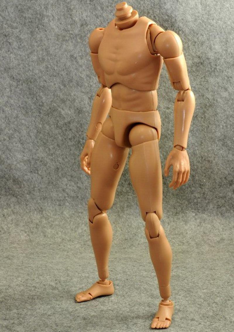 "1//6 Scale Soldier Men B003 Narrow Shoulder Black Figure 12/"" Body Model"