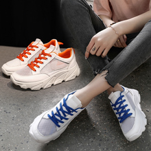 WENYUJH Women Casual Shoes Breathable Walking Mesh Lace Up F