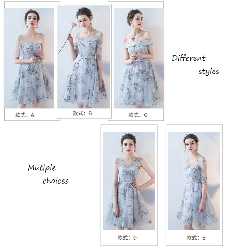 Blue Fairy Style Tulle New arrival A Line Knee Length Boat Neck Half Sleeve  Customized Appliques Elegant Prom Dresses Multistyle-in Prom Dresses from  ... c61b0659f3ce