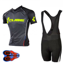 Cube Pro Team 2018 Cycling Jerseys Short Sleeve Set maillot ciclismo Bike Bicycle Clothes clothing sportwear Bib Shorts 9D A15