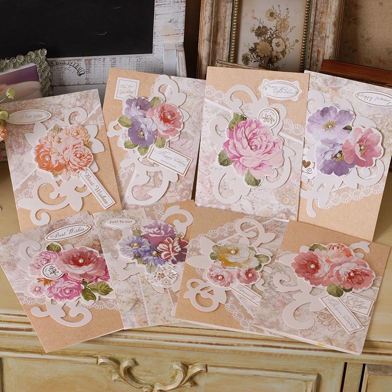 glitter layered flower hppy birthday cardshandmade