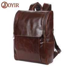 JOYIR Mens Backpack Genuine Leather 15Laptop Men Backpacks For Teenager Casual Daypacks Mochila Male 6390