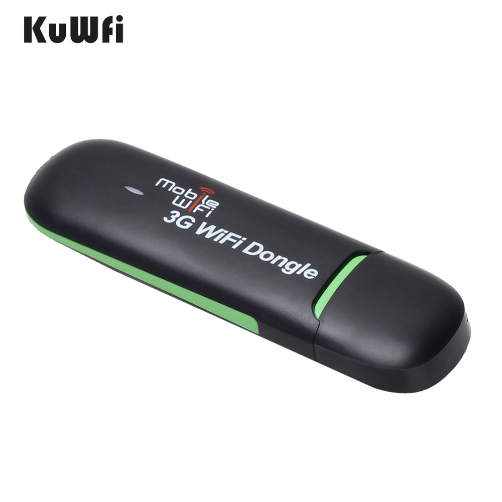 KuWFi 3g WiFi Modem Tragbare USB Wi-fi Mobile Modem 3g Wireless WiFi Router Unterstützung 3g 2100 mhz 7,2 Mbps Auto Hotspot Dongle