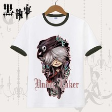 Black Butler Ciel Phantomhive Anime Casual Fashion Short Sleeves Men's T-shirt