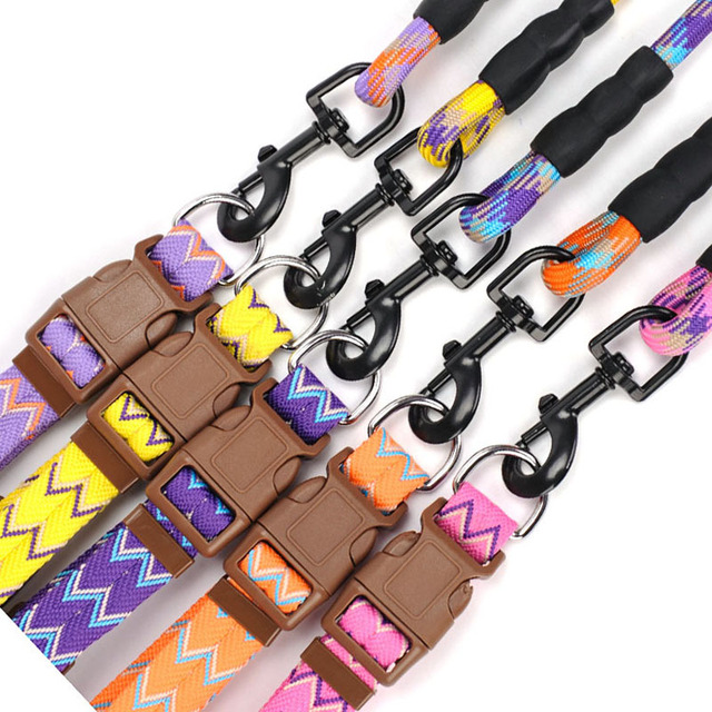 Pet Dog Collar Leash Set Good Puppy Cat Adjustable Nylon Harness Outdoor Walking Lead For Small Dogs Pet Aceessories DOGGYZSTYLE