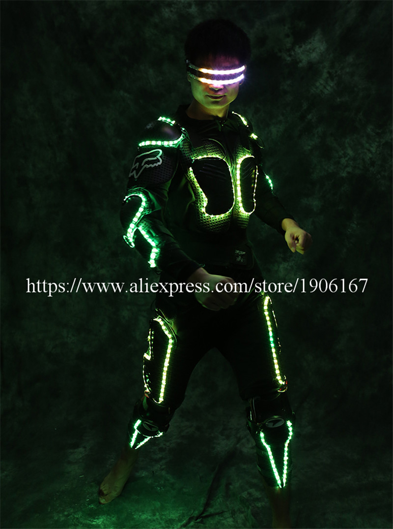 New Arrival Fashion LED Armor Light Up Jackets Costume Glove Glasses Led Outfit Clothes Led Suit For LED Robot suits5
