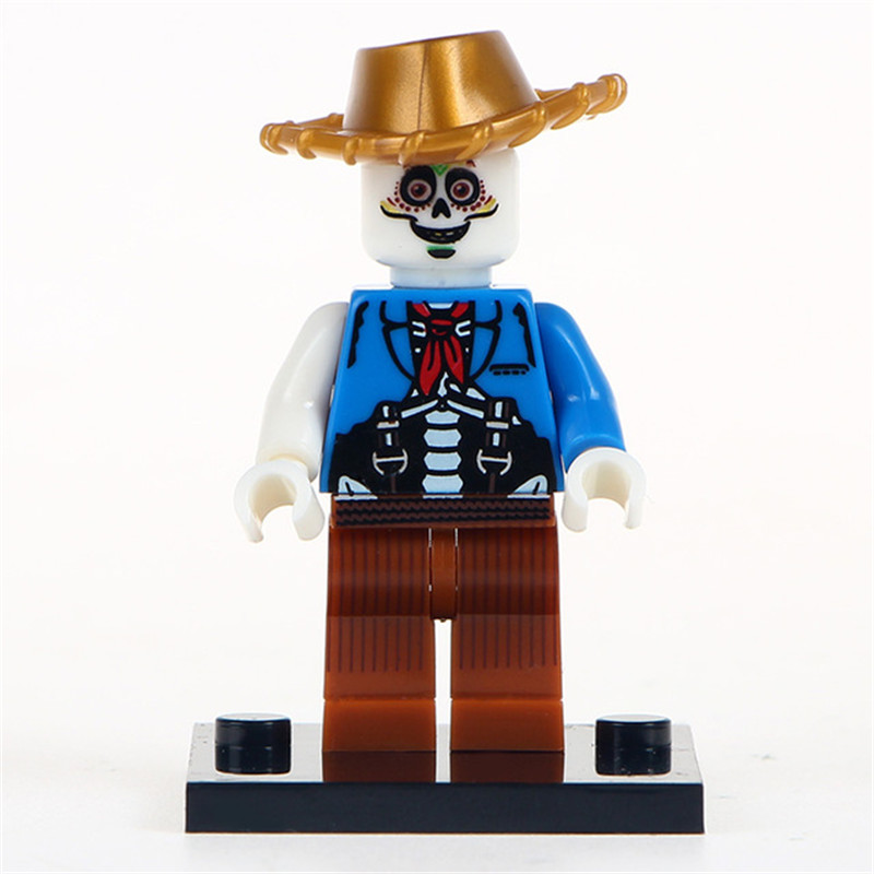 Model Building Tmgt Single Sale Miguel Hector Rivera Movie Coco Day Of The Dead Holiday Skeleton Skull Building Blocks Kids Gift Toys