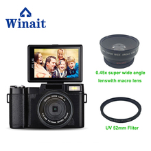 Winait Full HD 1080P Digital Camera SLR Cam 3.0″ TFT LCD Display SD Card Memory Max To 32GB Changeable Lens