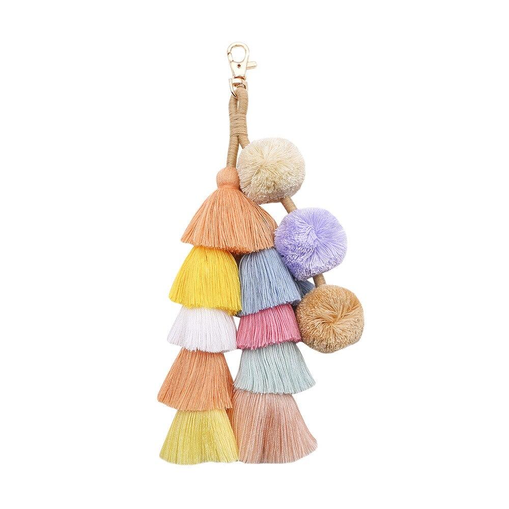 Summer Straw Bags Accessories Tassel Pom Pom Ornament  Bohemian Women Handbag Beach Bags Ornament